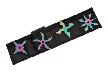 Rite Edge 210817-RB - Rainbow Throwing Star Set (SZ-SZ210817-RB)
