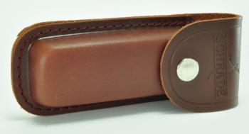 Schrade Old Timer LS2 - Large Brown Leather Belt Sheath (SC-SCLS2)