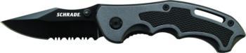 Schrade Liner Lock Folding Knife Partially Serrated Clip Point Blade G (SC-SCH210S)