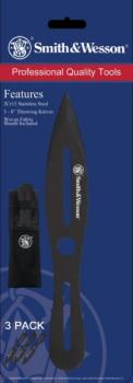Smith & Wesson 3 Pack 8 inch Throwing Knives (SW-SWTK8BCP)