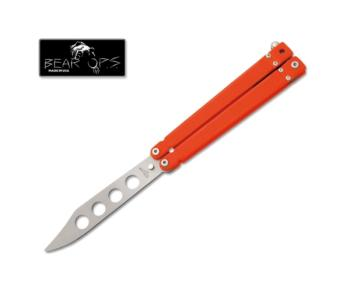 Bear & Son - 5 3/8 inch BEAR SONG™ II ORANGE TEXTURED G10 HANDLE/BEAD  (BS-BSB-201-OR4-P)