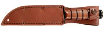 KA-BAR® Full-Size Plain Brown Leather Sheath (KB-KB1217I)