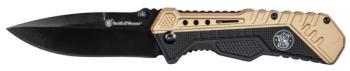 S&W - SWSA11 Blk/FDE Rub Alum S.A. Blk 3.5 inch (SW-SW1084302)