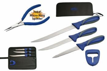 4 PIECE FILLET KNIFE SET + Free Pliers (SZ-SZKIT-12134)
