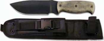 OKC - Afghan Knife 5.5 inch Plain Edge Drop Point Black Powder Coat 51 (OK-OKC9419BM)
