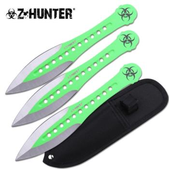 Z HUNTER THROWING KNIFE SET 7.5 inch OVERALL (ZB-ZB-163-3GN)