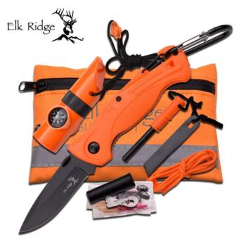 Elk Ridge ER-PK4 SURVIVAL KIT 6.75 in. X 4.25 in. POUCH SIZE (MC-ER-PK4)