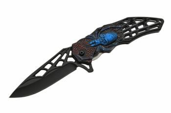 4.5 inch BLUE WEB SKULL FOLDER (SZ-SZ300451-BL)