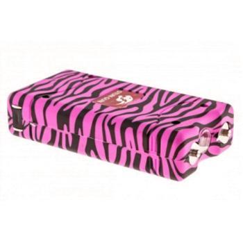 Pink Zebra Stun Gun w/ Flashlight (MC-MTW-L100PZ)