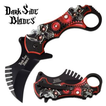 DARK SIDE BLADES DS-A075RD SPRING ASSISTED KNIFE (MC-DS-A075RD)