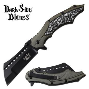 DARK SIDE BLADES DS-A079GY SPRING ASSISTED KNIFE (MC-DS-A079GY)