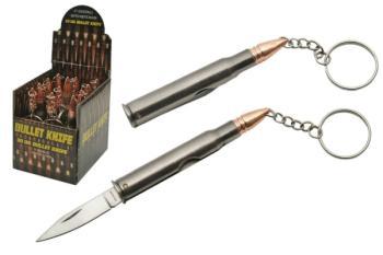12-PC DISPLAY 30-06 BULLET KEYCHAIN KNIFE (SZ-SZ211345)