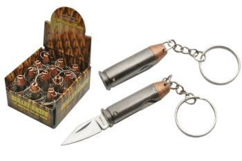 12 PC DISPLAY 44 MAGNUM KEYCHAIN KNIFE (SZ-SZ211357)