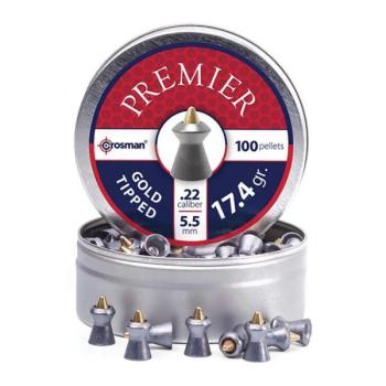 CROSMAN Premier Gold Tipped Pellet .22 Caliber - 17.4 gr. (100 Count) (CN-GTP22)