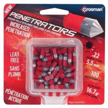 CROSMAN Red Flight Penetrator .22 Caliber- 16.7 gr. (100 Count) (CN-LF22167)