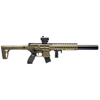 Sig Sauer MCX Semi-Auto Air Rifle with Red Dot - CO2 Powered (Flat Dar (SS-AIRMCXMRD17788G30)