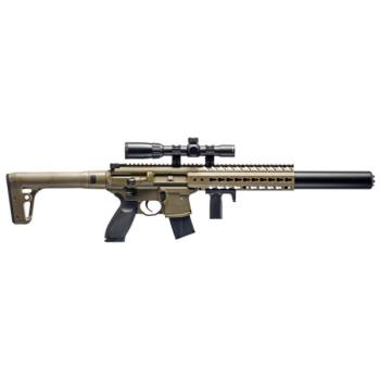 Sig Sauer MCX Semi-Auto Air Rifle with 1-4x24mm Scope - CO2 Powered (F (SS-AIRMCXSCOPE17788G)