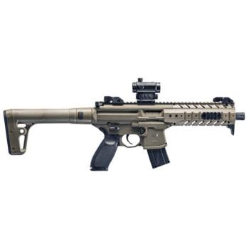 Sig Sauer MPX Semi-Auto Air Rifle with SIG20R Red Dot - CO2 Powered (F (SS-AIRMPXMRD17788G30)