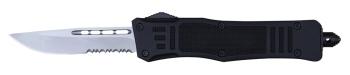 Delta Force - OTF Drop Point Black Medium Serrated (DE-DFMDPBKS)