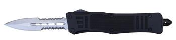 Delta Force - OTF Spear Point Black Medium Serrated (DE-DFMSPBKS)