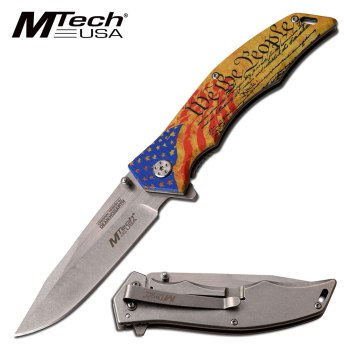 Master Cutlery - MTECH USA MX-A849FC SPRING ASSISTED KNIFE 5 in CLOSED (MC-MX-A849FC)
