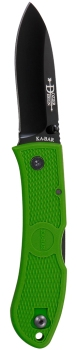DOZIER FOLDING HUNTER-KELLY GREEN BLACK POCKET CLIP, STR EDGE (KB-KB4062KG)