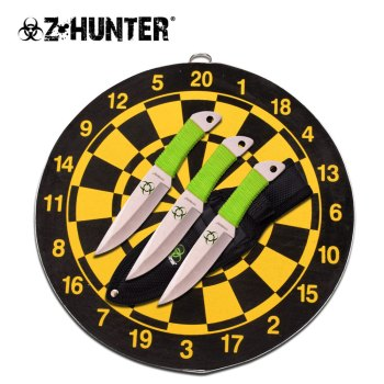"Z HUNTER THROWING KNIFE SET 6.5"" OVERALL 9: Diameter Board (ZB-ZB-154SET)"