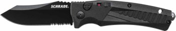 Schrade SC90BS Black Aluminum Automatic Knife - Black Serr (OH-ASC90BS)