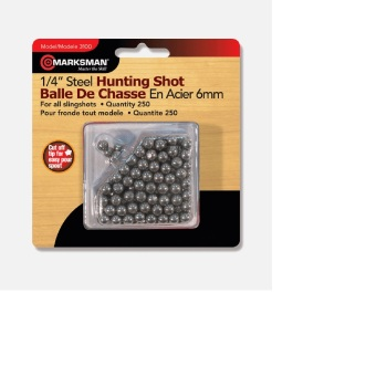 Beeman 1/4″ Steel Shot BB's / Slingshot Ammo (250 Count) (BE-3100B)