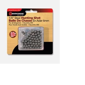 Beeman 1/4″ Steel Shot BB's / Slingshot Ammo (250 Count) (BE-3100B)