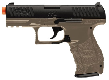 Umarex Walther PPQ Spring Powered Airsoft Pistol – Dark Earth Brown (UX-2272542)