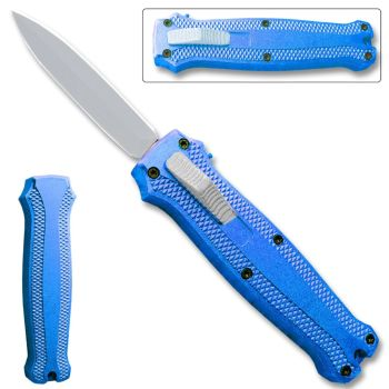 OTF Stiletto Blade Knife Blue (OH-T3104-BL)