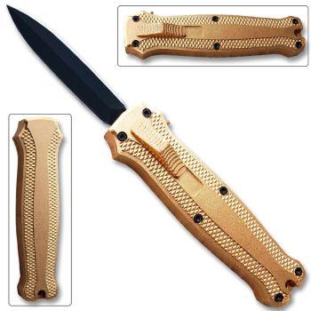 OTF Stiletto Blade Knife Gold (OH-T3104-G)