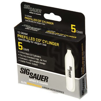 Sig Sauer 12 Gram CO2 Cylinders (5 count) (SS-AC125)