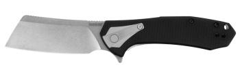 """Kershaw 3455 Bracket Assisted Flipper Knife 3.4"""" Stonewashed Cleaver  (KW-KW3455)"""
