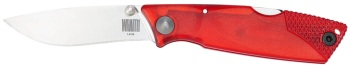 "Ontario Wraith Ice Series Fire 2.6"" Plain Blade Red Polymer Handle (OK-OKC8798RD)"