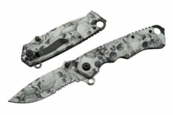 """Rite Edge 300262 - 4.5"""" Skull Folder Black/grey Finish (SZ-SZ300262)"""