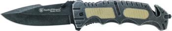 Smith & Wesson Liner Lock Drop Point Folding Knife (SW-SWBG7)