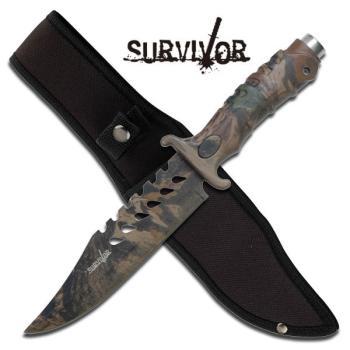 Master Cutlery -SURVIVOR HK-1037S SURVIVAL KNIFE 10.5 inch OVERALL (MC-HK-1037S)