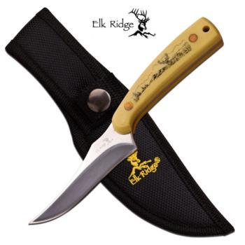 Elk Ridge ER-299IV FIXED BLADE KNIFE 7 inch OVERALL (MC-ER-299IV)