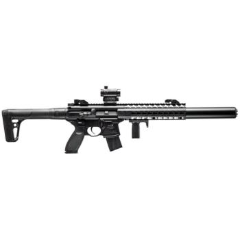 Sig Sauer MCX Semi-Auto Air Rifle with Red Dot - CO2 Powered (Black) (SS-AIRMCXMRD17788G30)
