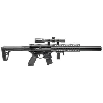 Sig Sauer MCX Semi-Auto Air Rifle with 1-4x24mm Scope - CO2 Powered (B (SS-AIRMCXSCOPE17788G)