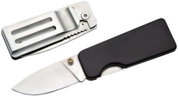 MONEY CLIP 2.5 in. BLACK WITH KNIFE (SZ-SZ210649)