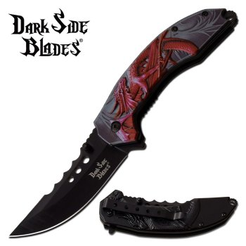 DARK SIDE BLADES DS-A072RD SPRING ASSISTED KNIFE (DS-DS-A072RD)