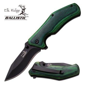 """Elk Ridge ER-A013GW SPRING ASSISTED KNIFE 4.1"""" CLOSED (ER-ER-A013GW)"""
