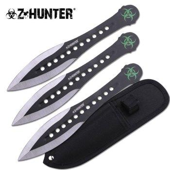 """Z HUNTER ZB-163-3BK THROWING KNIFE SET 7.5"""" OVERALL (ZB-ZB-163-3BK)"""