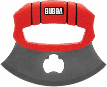 BUBBA ULU Knife with Non-Slip Grip Handle, Curved Blade (BB-BB1-1989606)