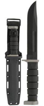 "KA-BAR 1292 D2 Extreme Fixed Blade Knife 7"" Black Plain Blade, Kraton  (KB-KB1292)"