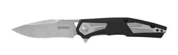 """Kershaw 1390 Tremolo Assisted Flipper Knife 3.125"""" Stonewashed Plain B (KW-KW1390)"""