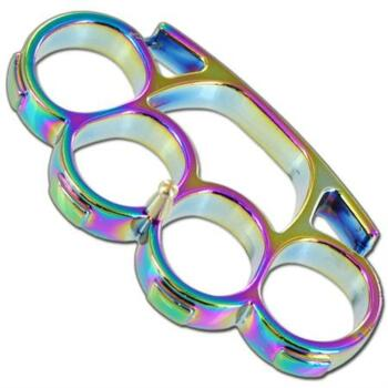 Iron Fist Knuckleduster Paperweight Buckle Titanium (OH-PK490T)